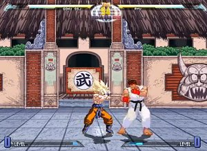 A picture of Dragon Ball vs. Street Fighter III