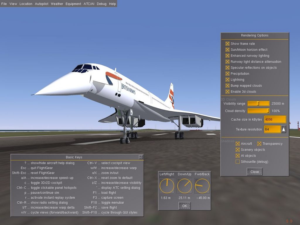 A picture of FlightGear