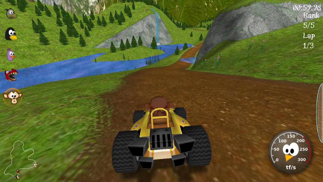 A picture of SuperTuxKart