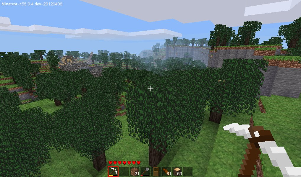 A picture of Minetest