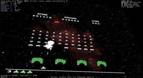 A picture of Space Invaders OpenGL