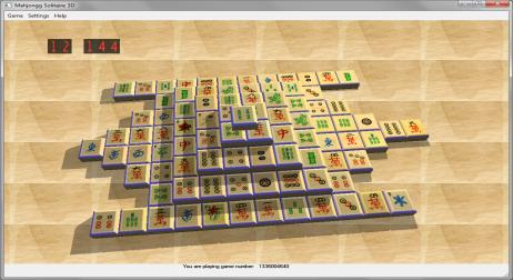 A picture of MahJongg Solitaire 3D