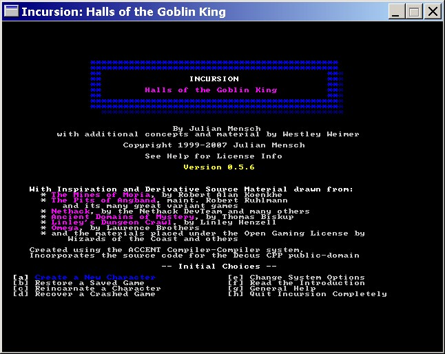 A picture of Incursion: Halls of the Goblin King